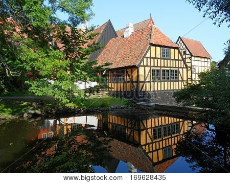 Reflection of Traditional Houses of the Open-air Museum