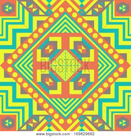 Colorful seamless geometric pattern. Ethnic. Traditional. Colorful. Texture for backgrounds, cards, fation and decor.