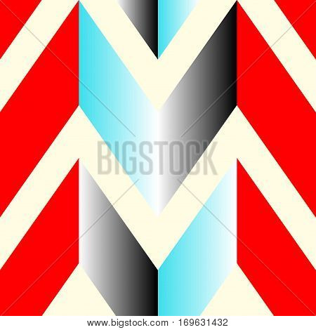 The pattern in which the red gray and blue lines. Vector illustration
