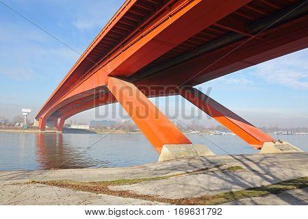 Gazela Bridge Over Sava River in Belgrade poster