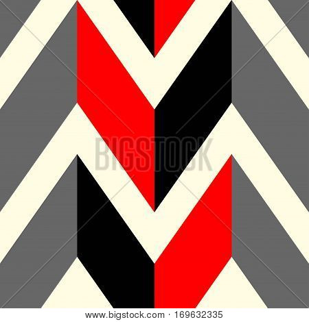 The pattern in which red black and gray lines. Vector illustration