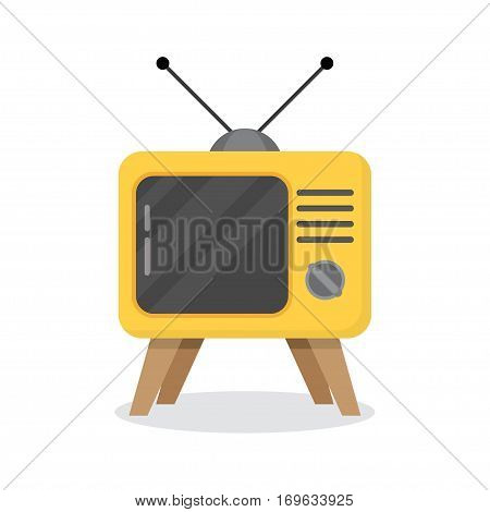 Retro TV on a white background. vector illustration