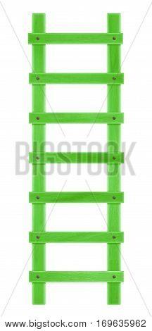 Wooden Step Ladder - Green