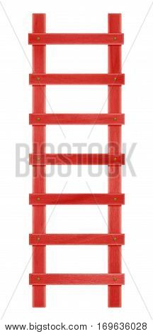 Wooden Step Ladder - Red