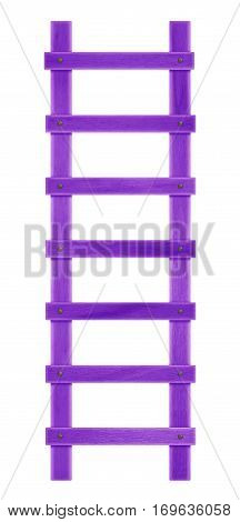 Wooden Step Ladder - Purple