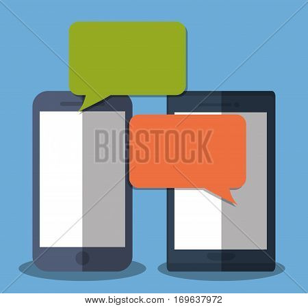 instant messaging smartphone cellphone icon image vector illustration design