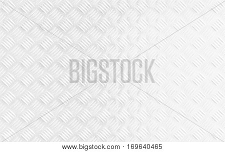 A white textured metal background with a corrugated pattern.