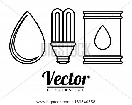 water energy or electricity sources icon image vector illustration design