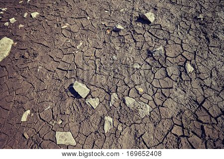 Drought, Cracked Ground Background Picture.