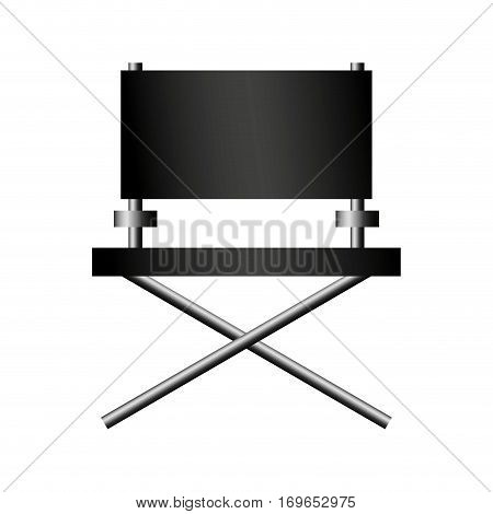 director chair and speaker icon over white background. colorful design. vector illustration