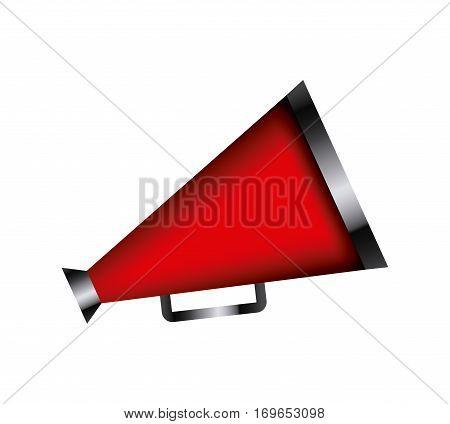 cinema speaker icon over white background. colorful desing. vector illustration