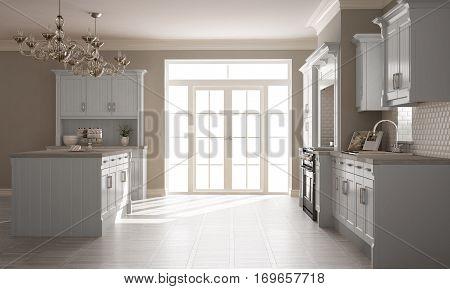 Classic Kitchen, Scandinavian Minimal Interior Design With Wooden Details