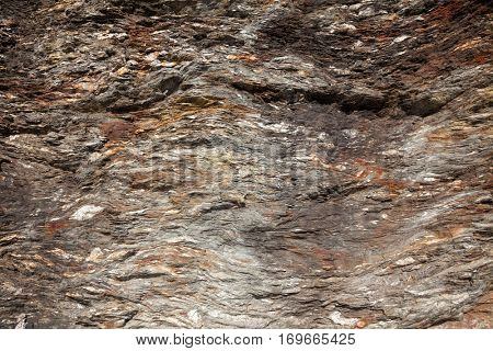Layered sedimentary rock geological background