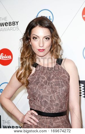 NEW YORK-MAY 19: TV host Julia Melim attends the 18th Annual Webby Awards at Cipriani Wall Street on May 19, 2014 in New York City.