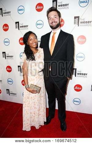 NEW YORK-MAY 19: Reddit Co-founder Alexis Ohanian (R) and Sabriya Stukes attend the 18th Annual Webby Awards at Cipriani Wall Street on May 19, 2014 in New York City.