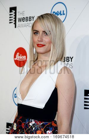 NEW YORK-MAY 19: Actress Taylor Schilling attends the 18th Annual Webby Awards at Cipriani Wall Street on May 19, 2014 in New York City.