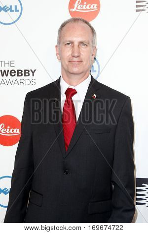 NEW YORK-MAY 19: Actor Jeff Peters attends the 18th Annual Webby Awards at Cipriani Wall Street on May 19, 2014 in New York City.