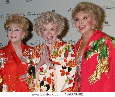 LOS ANGELES -NOV 7:  Debbie Reynold, Phyllis Diller, Ruta Lee arrive at the Thalians Ballat the Century Plaza Hotel on November 7, 2004 in Century City, CA