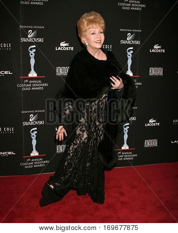 LOS ANGELES -FEB 19:  Debbie Reynolds arrives at the Costume Designerâ??s Guild Awards at a Beverly Hill hotel  on February 19, 2005 in Beverly Hills, CA