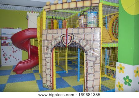 Children's play castle for young children. kindergarten