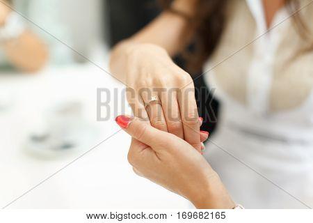 wedding ring finger bride bachelorette party engagement bridesmaids