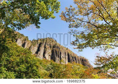 Volcanic cliff in Japan