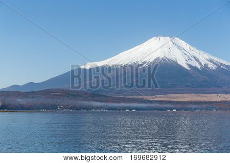 Mount Fuji and Lake Yamanashi