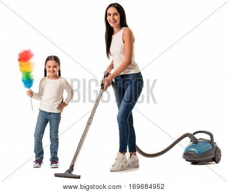 Beautiful Housewife And Her Daughter