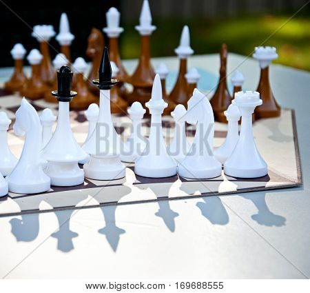 Chess Game For Three Players. Hexagonal Chess Board. Russian Chess