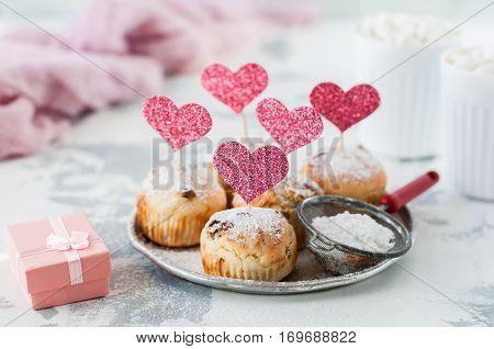 Valentine Sultana Cupcakes
