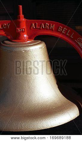Firehouse bell at Tillamook, Oregon fire station