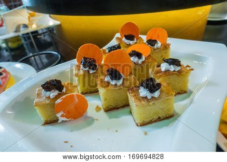Desserts with strawberry fruits