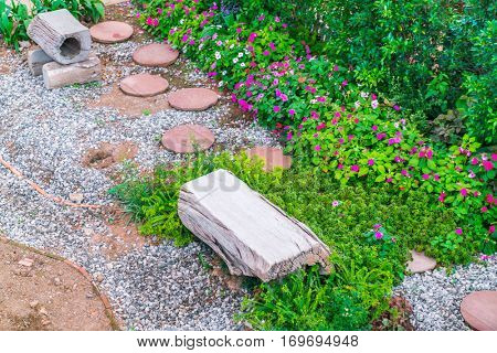 Landscaped of flower garden