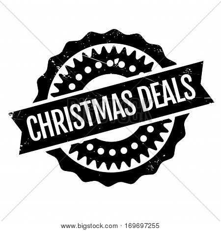 Christmas Deals rubber stamp. Grunge design with dust scratches. Effects can be easily removed for a clean, crisp look. Color is easily changed.
