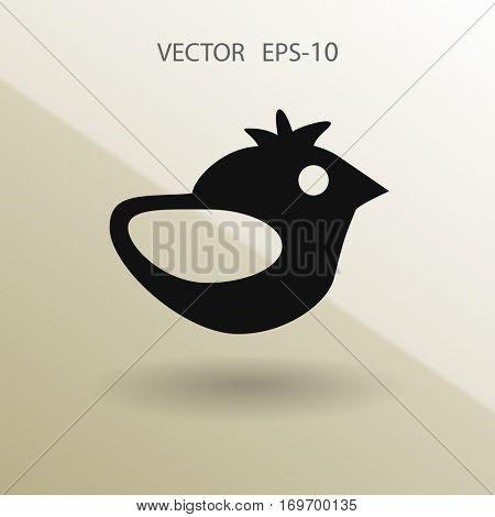 Flat icon of bird. vector illustration