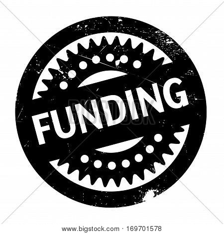 Funding rubber stamp. Grunge design with dust scratches. Effects can be easily removed for a clean, crisp look. Color is easily changed.