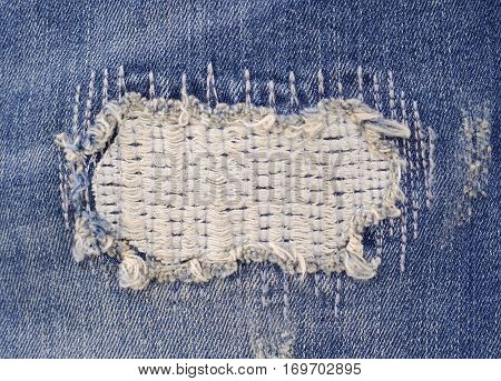 Jeans denim old jeans torn texture for the design textures