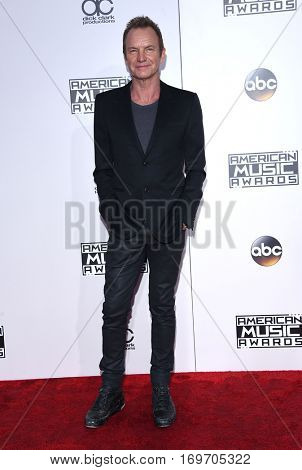 LOS ANGELES - NOV 20:  Sting arrives to the American Music Awards 2016 on November 20, 2016 in Hollywood, CA
