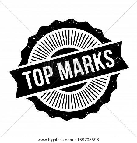 Top Marks rubber stamp. Grunge design with dust scratches. Effects can be easily removed for a clean, crisp look. Color is easily changed.