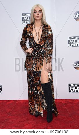 LOS ANGELES - NOV 20:  Bebe Rexha arrives to the American Music Awards 2016 on November 20, 2016 in Hollywood, CA