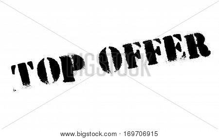Top Offer rubber stamp. Grunge design with dust scratches. Effects can be easily removed for a clean, crisp look. Color is easily changed.