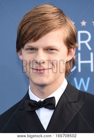 LOS ANGELES - DEC 11:  Lucas Hedges arrives to the Critics' Choice Awards 2016 on December 11, 2016 in Hollywood, CA