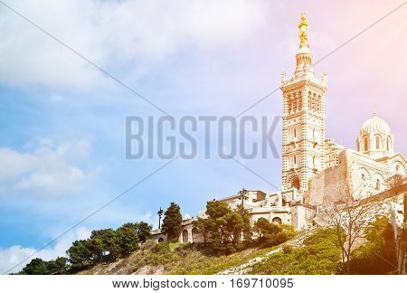 Notre-Dame de la Garde (literally Our Lady of the Guard) is a basilica in Marseille France.