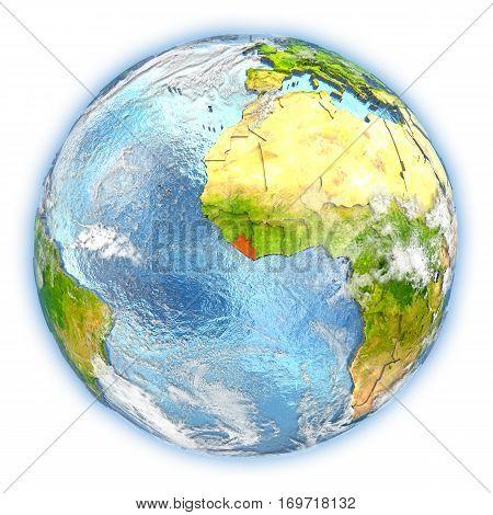Liberia On Earth Isolated