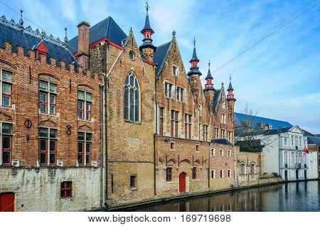 Old Buildings In Bruges, Belgium
