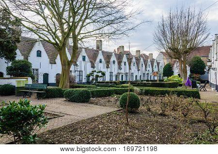 Almshouses In Bruges, Belgium