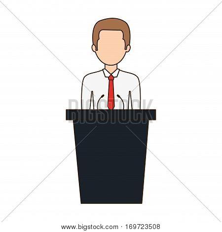 dais man speak icon, vector illustration image