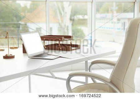 Lawyer empty workplace