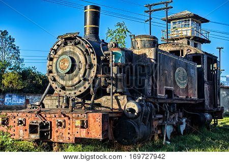 Old Locomotive In The Savannah Station