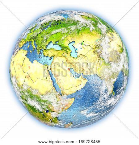 Kuwait On Earth Isolated